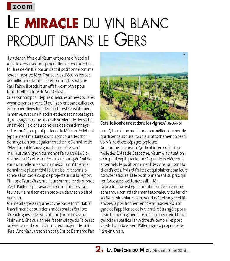 Le Miracle du vin blanc dans le Gers