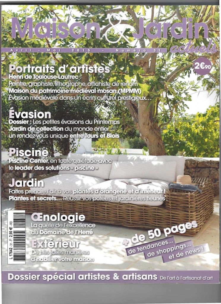 Page 1 Article Maisons et Jardins Mai 2015