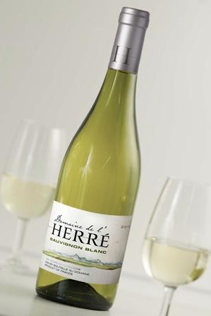 BD Domaine de l'Herré Sauvignon Blanc avec verres - Copie